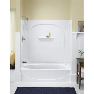 Sterling 71091122 Acclaim 5 Foot Three Wall Alcove Soaking Tub With Right  Hand Drain