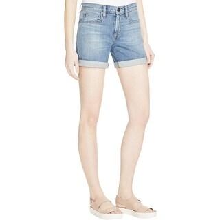 Vince Womens Mason Denim Shorts 5-Pocket Cuffed - 27