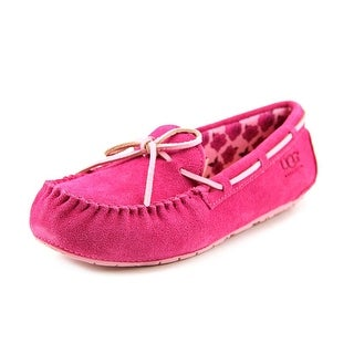 Ugg Australia Ryder Rose Youth Round Toe Suede Pink Slipper