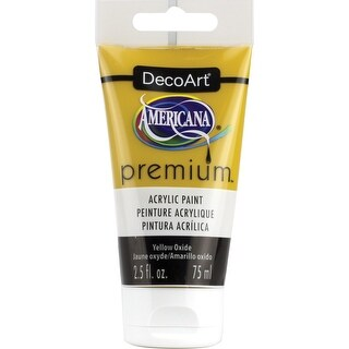 Americana Premium Acrylic Paint Tube 2.5Oz-Yellow Oxide
