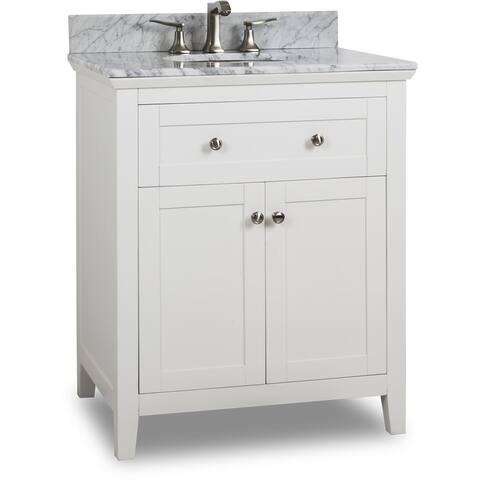 Jeffrey Alexander Van105 30 T Chatham Shaker Vanity Set With Wood Cabinet