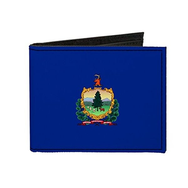 Buckle-Down Canvas Bi-fold Wallet - Vermont Flag Accessory