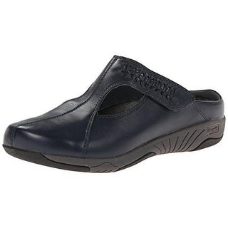 Propet Womens Romy Leather Round Toe Mules