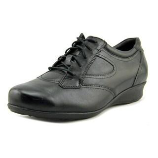 Drew Prague Women W Round Toe Leather Black Sneakers