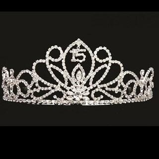 Crystal Rhinestone Girls Butterfly Floral Quinceanera Tiara Headpiece