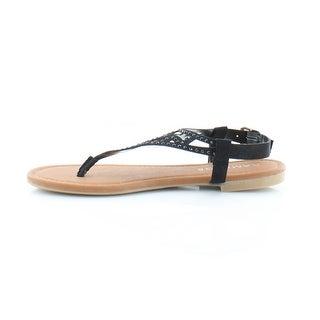 Rampage Womens Pattie Split Toe Casual T-Strap Sandals
