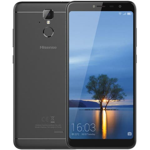 Hisense Infinity F24 16GB Unlocked GSM 4G LTE Android Phone w/ 13MP Camera & 2.5D Curved Glass Display