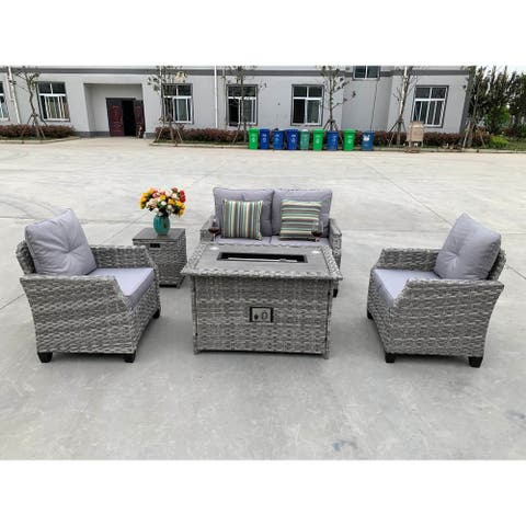 Amora 5-piece Sofa Seating Group with Cushions
