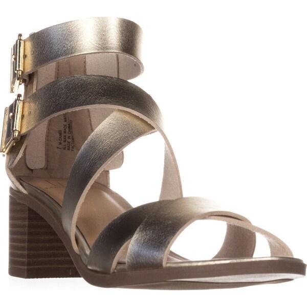 MG35 Danee Block Heel Strappy Sandals, Gold