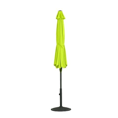 9 Ft Patio Umbrella Outdoor Garden Table Umbrella with Auto-Tilt