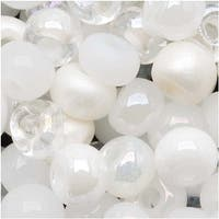 Czech Seed Beads 6/0 ''White Wedding'' White & Pearl Mix (1 Ounce)