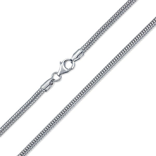 2d6bbbe2c88 Heavy Snake Magic Strong Flexible Link Chain 320 Gauge For Men 925 Sterling  Silver Made In