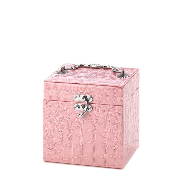 Stylish Pink Mirror Jewelry Box