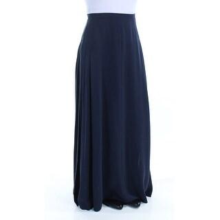 Womens Navy Full Length Shift Skirt Size 6