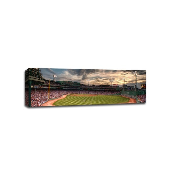 Fenway Park at Sunset - MLB - Baseball Field - 36x12 Gallery Wrapped Canvas