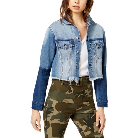 Kendall Kylie Womens Cropped Jacket