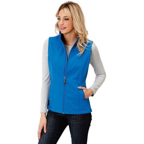 Roper Western Vest Womens Fleece Softshell Zipper - Marine Blue