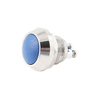 AC 250V 3A ON/OFF 12mm Threaded SPST Momentary 2-Terminals Push Button Switch