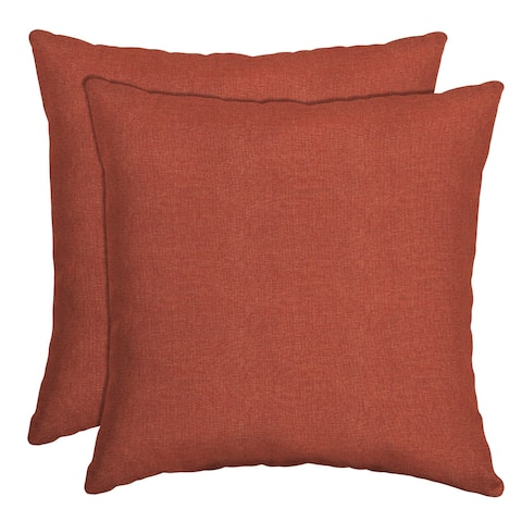 Arden Selections Sedona Woven Outdoor Throw Pillow, 2 pack - 16 in L x 16 in W x 5 in H