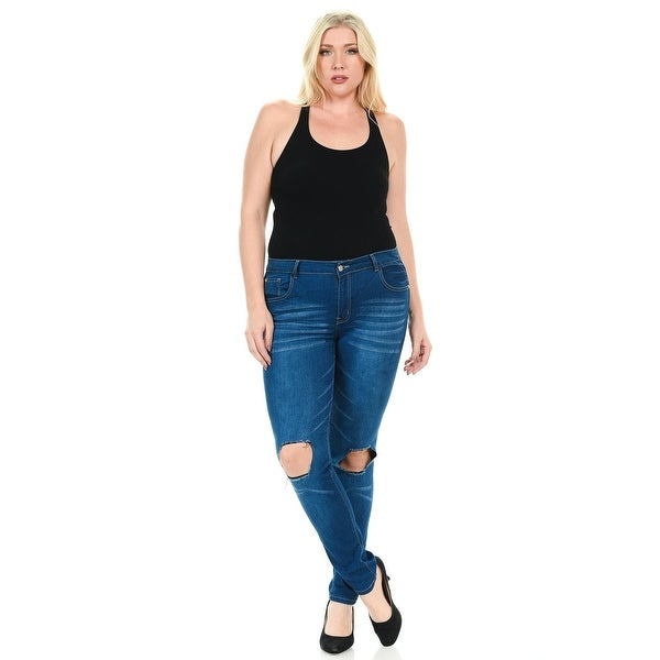 7e2fa2edeb4 Sweet Look Premium Edition Women  x27 s Jeans - Plus Size - High Waist