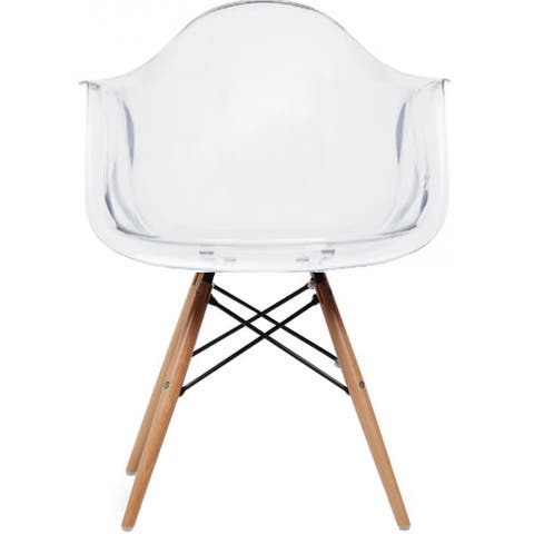 Clear Modern Plastic Armchair With ArmsÂWired Chrome Dining Chair Kitchen Desk Work Home Office