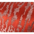 """G Home Collection Luxury Tangerine Nonobjective Pattern Jacquard Pillow 22""""X22"""" - Thumbnail 3"""