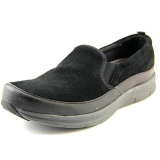 Easy Spirit e360 Sammi Women N/S Round Toe Suede Black Walking Shoe