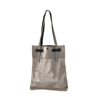 Truth of Touch Womens Sam Tote Handbag Faux Leather Newspaper - Medium