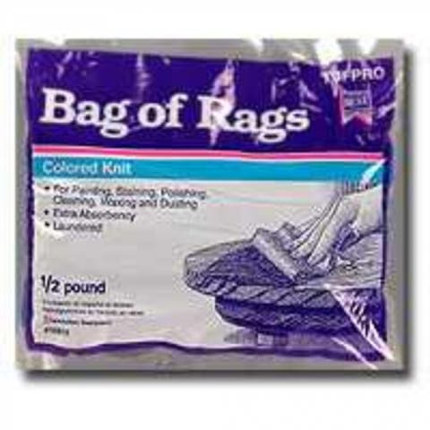 Trimaco 10801 Colored Bag Of Rags, 1/2 Lb