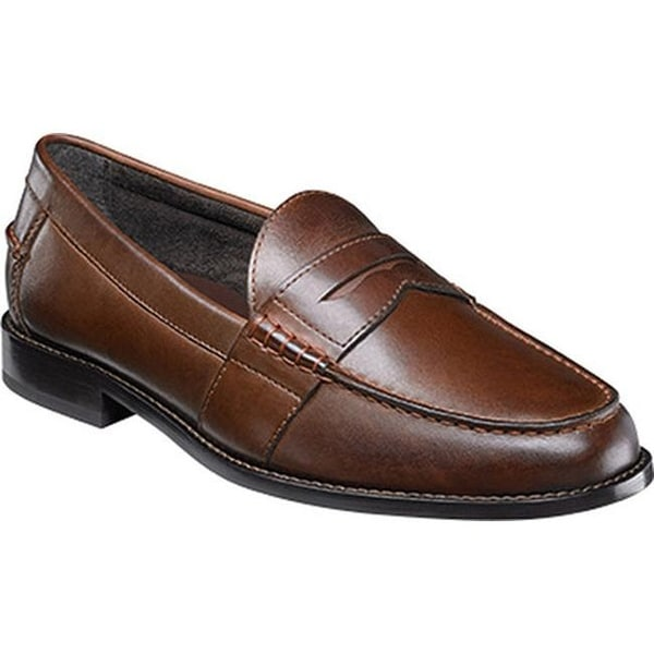 1cbe2747272 Shop Nunn Bush Men s Noah Beef Roll Penny Loafer Brown Leather - Free  Shipping Today - Overstock.com - 15362498