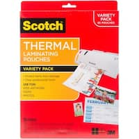 Scotch Thermal Laminating Pouches Variety Pack- 65 Pouches