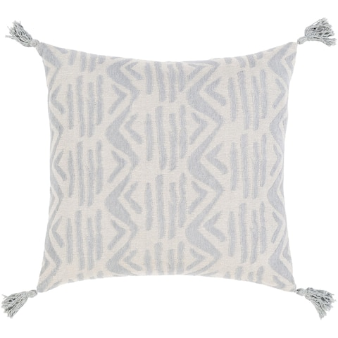 Mauro Jacquard Geometric Cotton Throw Pillow