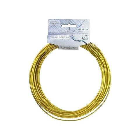 Dazzle It Aluminum Wire 12ga 30ft Rnd Gold