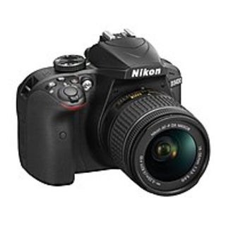 "Nikon 1571 D3400 24.2 Megapixel Digital SLR Camera with Lens - 18 mm - 55 mm - Black - 3"" LCD - 16:9 - 3.1x Optical Zoom - Optic"