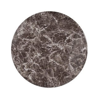 """Offex 30"""" Contemporary Round Gray Marble Laminate Table Top"""
