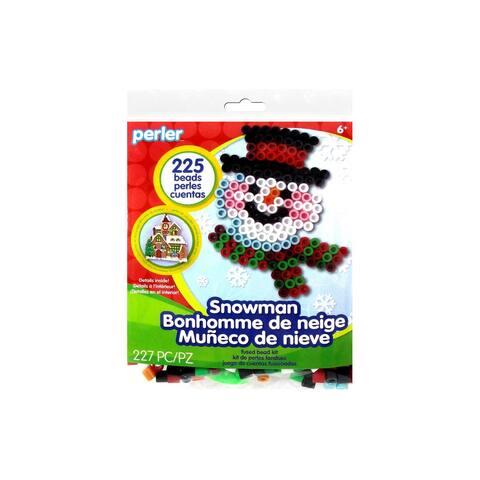 Perler Fused Bead Kit Trial Snowman - Medium