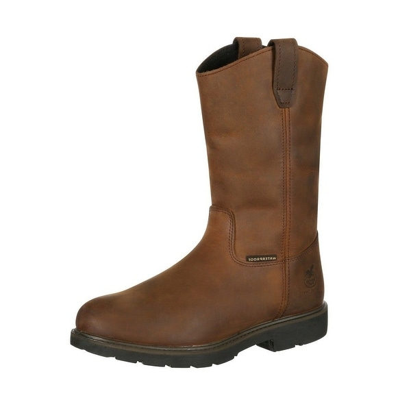 Georgia Boot Work Mens Suspension System Waterproof Brown
