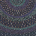 Handmade Sanganer Mandala Peacock 100% Cotton Tapestry Tablecloth Bedspread in Red Blue & Green colors in Twin & Full sizes - Thumbnail 8