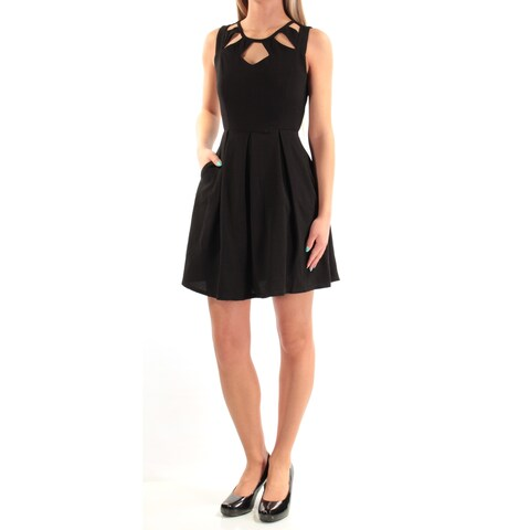 Womens Black Sleeveless Above The Knee Party Dress Size: 2XS