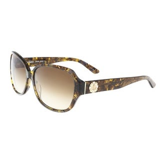Juicy Couture - Juicy 591/S 0YL3 Brown Crystal Rectangle Sunglasses - 58-15-135