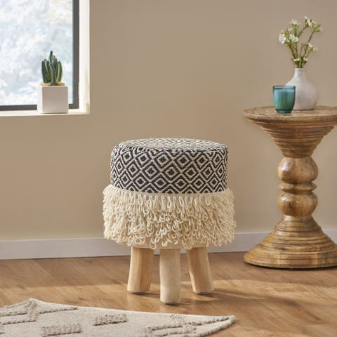 Whitney Fabric Stool by Christopher Knight Home
