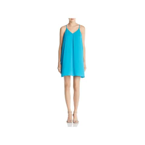 dd45372c55e Vince Camuto Womens Casual Dress Pleated V Neck