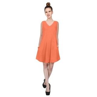 NE PEOPLE Women's Sleeveless V-Neck Flared Short Dress with Pockets