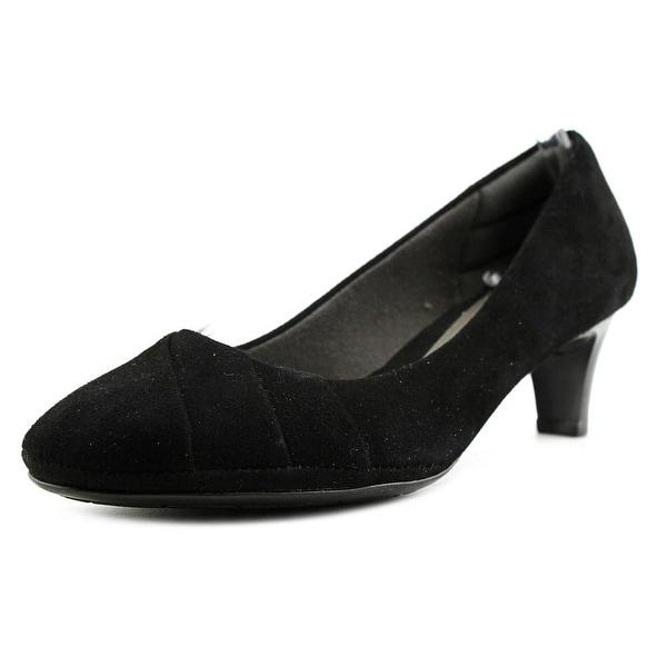 Eurosoft by Sofft Tellis Women Round Toe Suede Black Heels