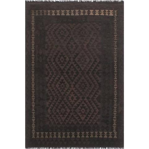 """Tribal Turkish Kilim Debra Hand-Woven Area Rug - 4'10"""" x 6'4"""""""