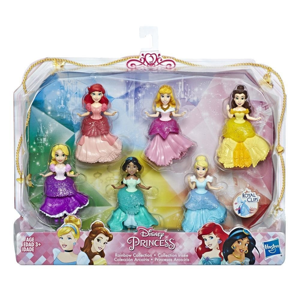Shop Disney Princess Collectible Dolls Set Of 6 With 6 Royal
