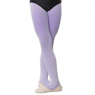 Danshuz Little Girls Lavender Comfortable Dance Nylon Stretch Tights 2-6