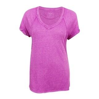 Calvin Klein Women's Performance Burnout T-Shirt (XL, Vivid Violet) - xL