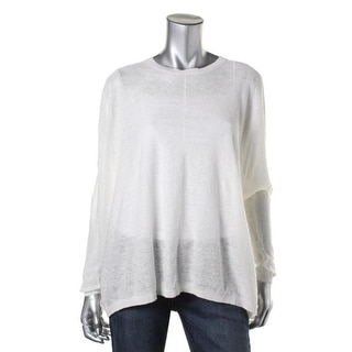 Pure DKNY Womens Linen Oversized Pullover Sweater - S