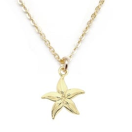 "Julieta Jewelry Starfish Gold Charm 16"" Necklace"